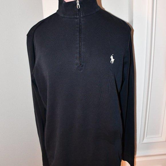 Ralph Lauren Mens ¼ Zip Pullover in Navy Blue SMAL
